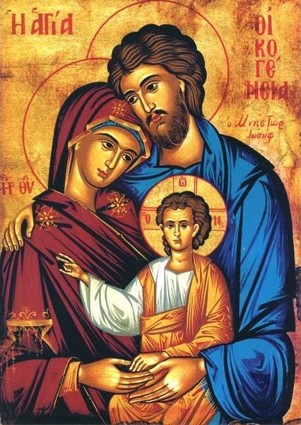A SZENT CSALÁD: JÉZUS, MÁRIA ÉS JÓZSEF